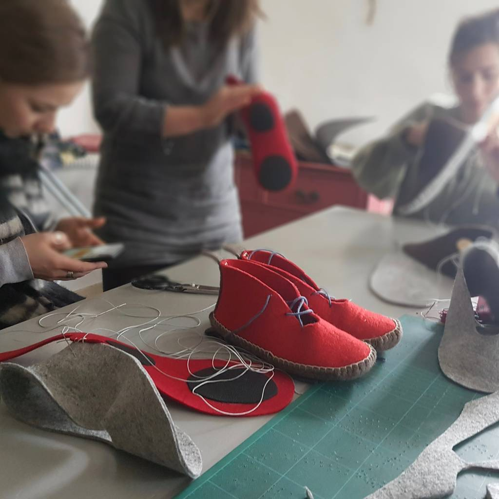 Slipper making