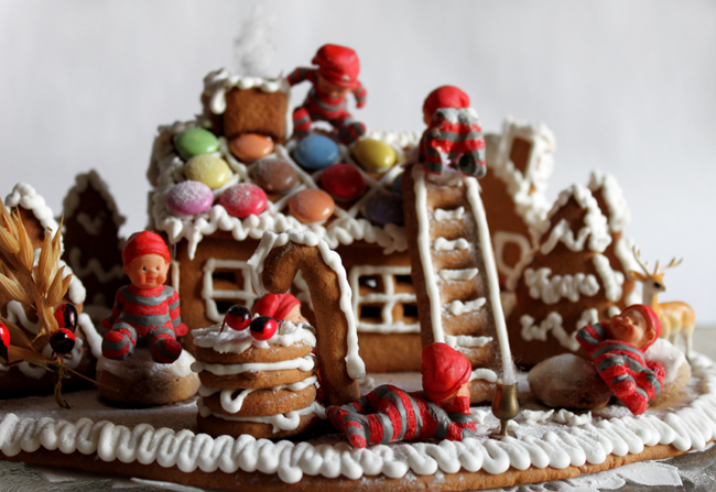 Mini gingerbread house, handmade by my Finnish mother.