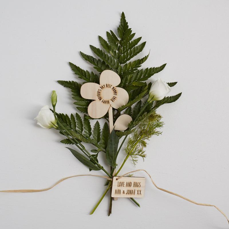 Custom wood flower
