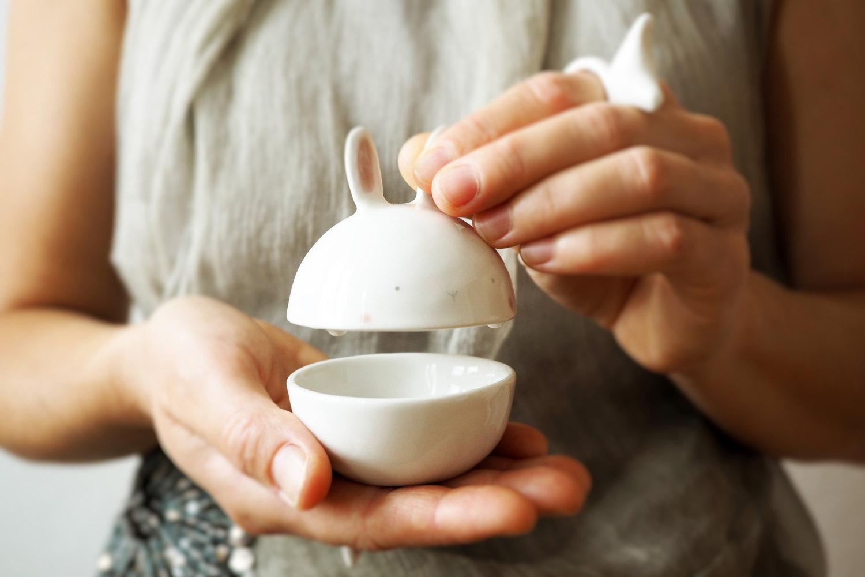 Bunny sugar bowl