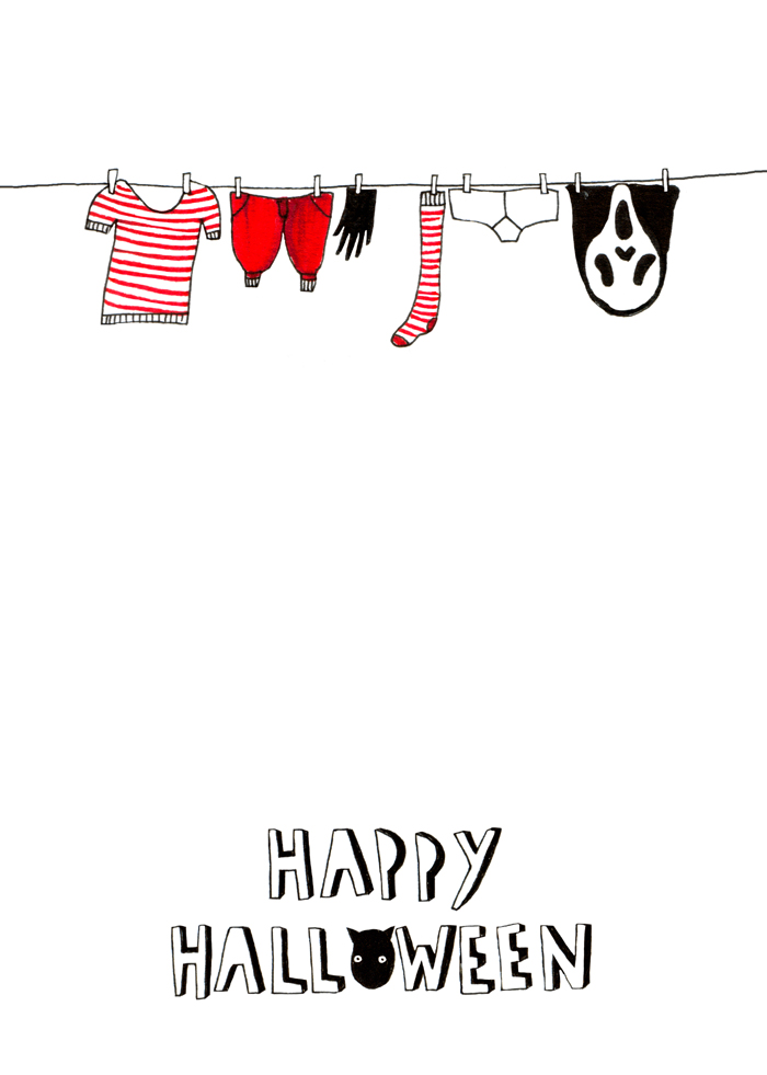 Halloween washing line card