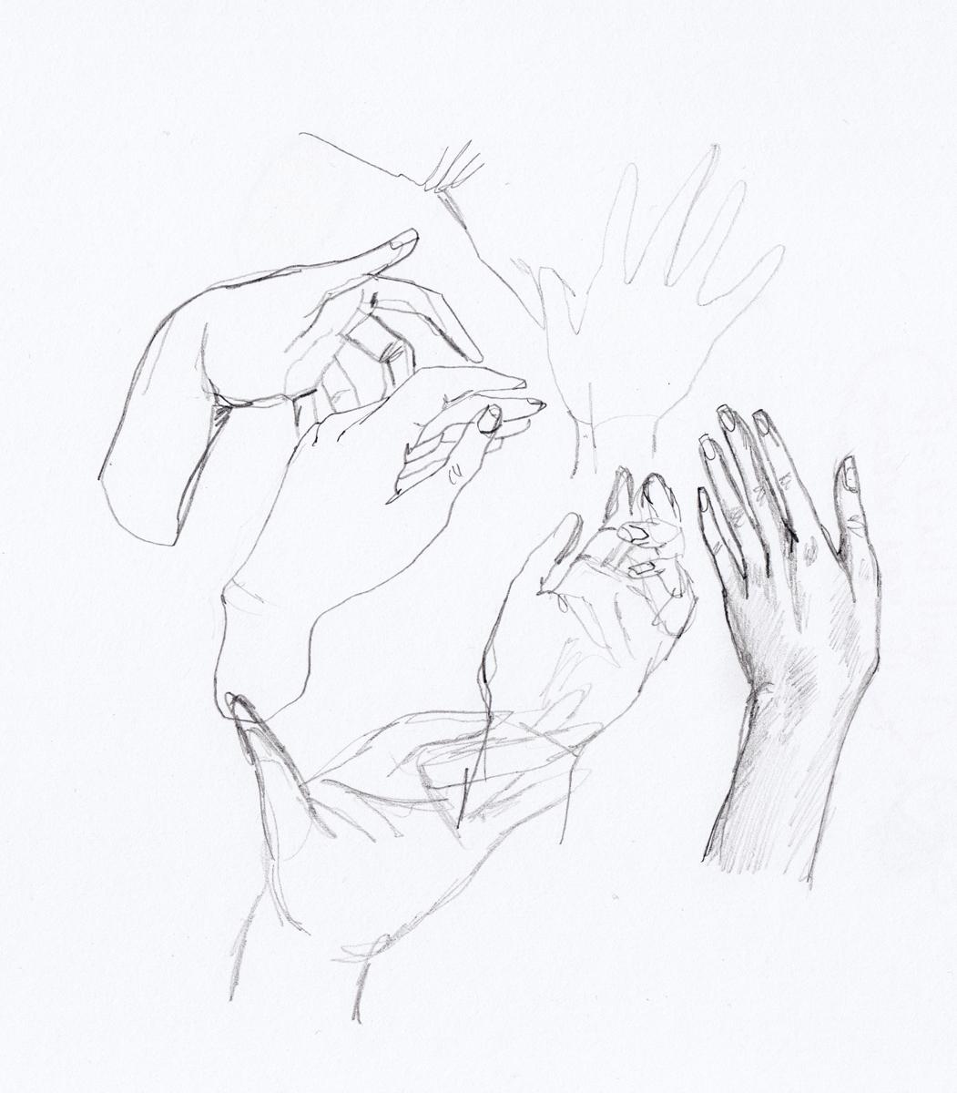 Hands sketchbook