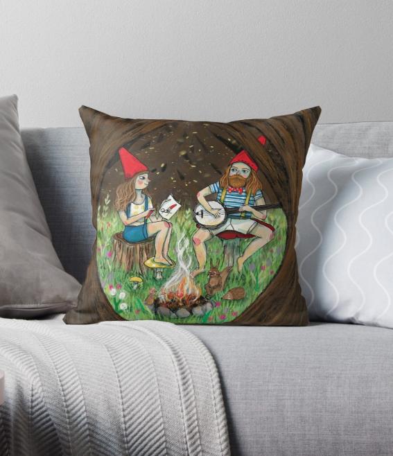Gnome Place Like Home cushion