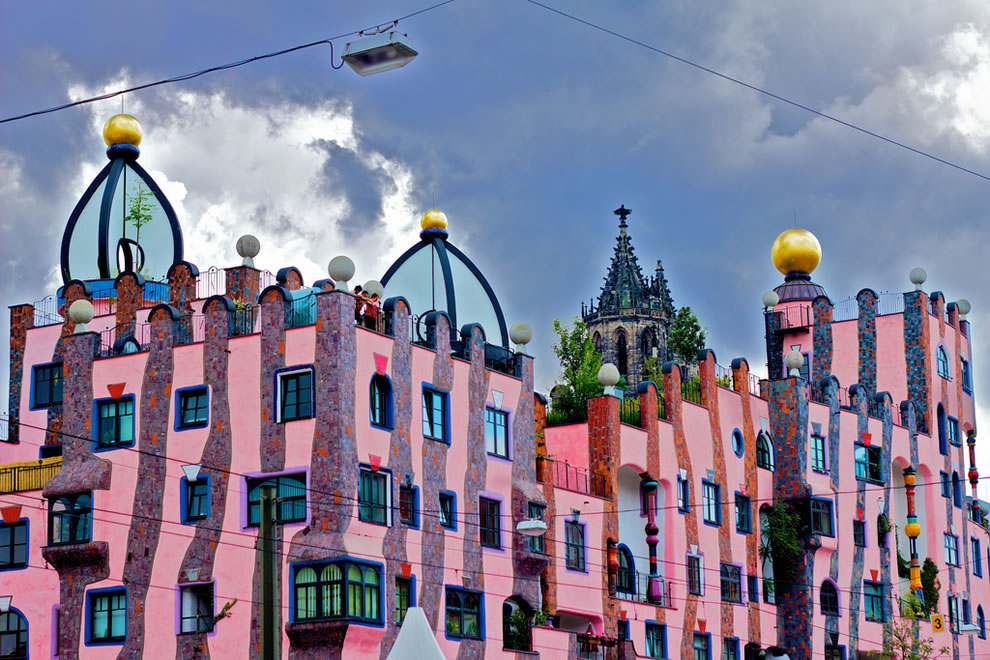 The Green Citadel , in  Magdeburg, Germany, designed by Hundertwasser.  Photo by Basileia Gorgo.