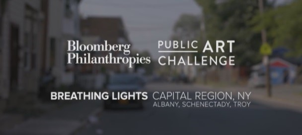 Breathing Lights   Interviews with artist Adam Frelin and architect Barbara Nelson describe a multi-city light project that will engage residents, community organizations, local government, and private sector partners to address issues of divestment and building vacancy throughout Albany, Schenectady, and Troy, New York.