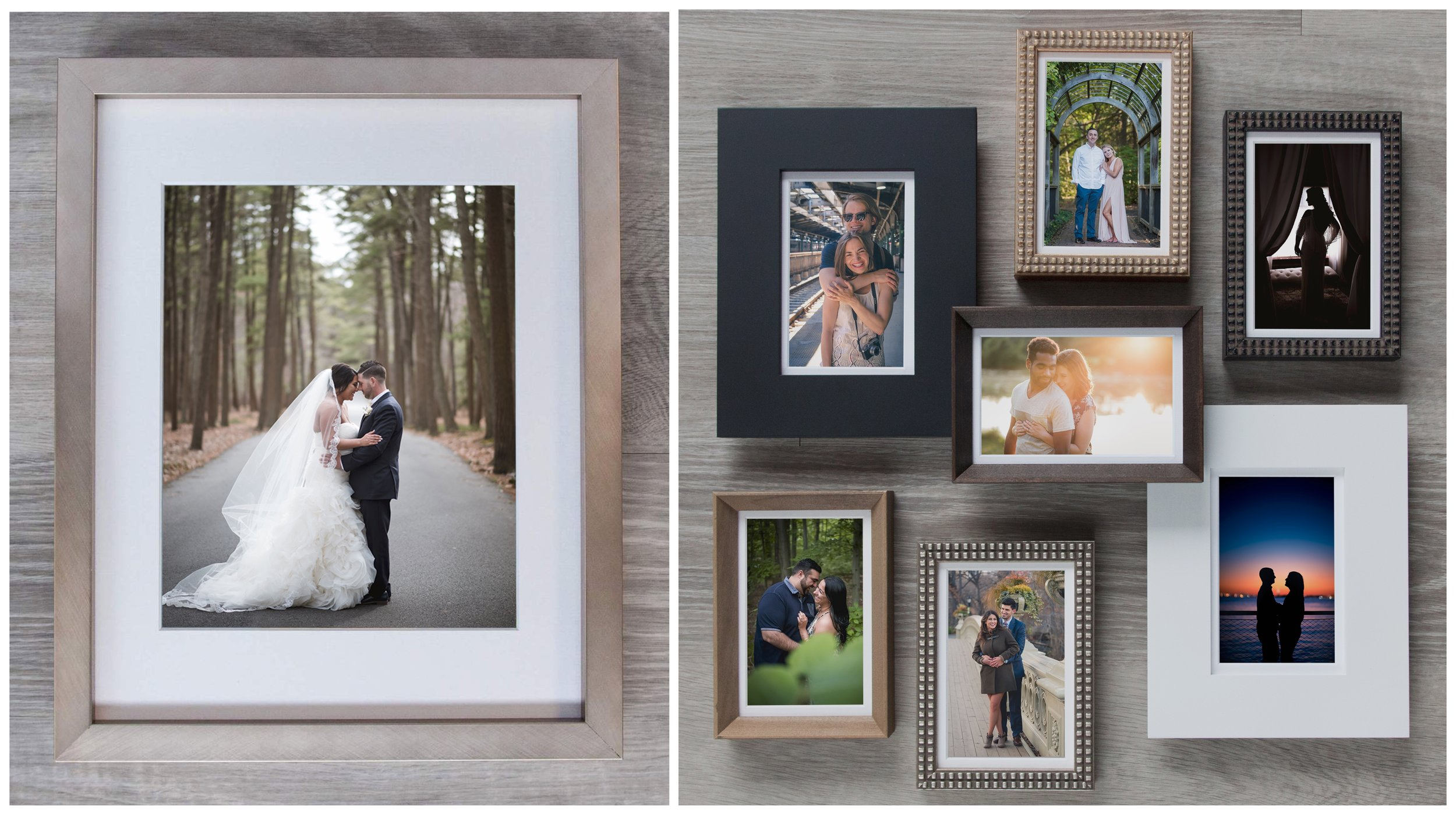 8 beautiful frames to choose from to match any style