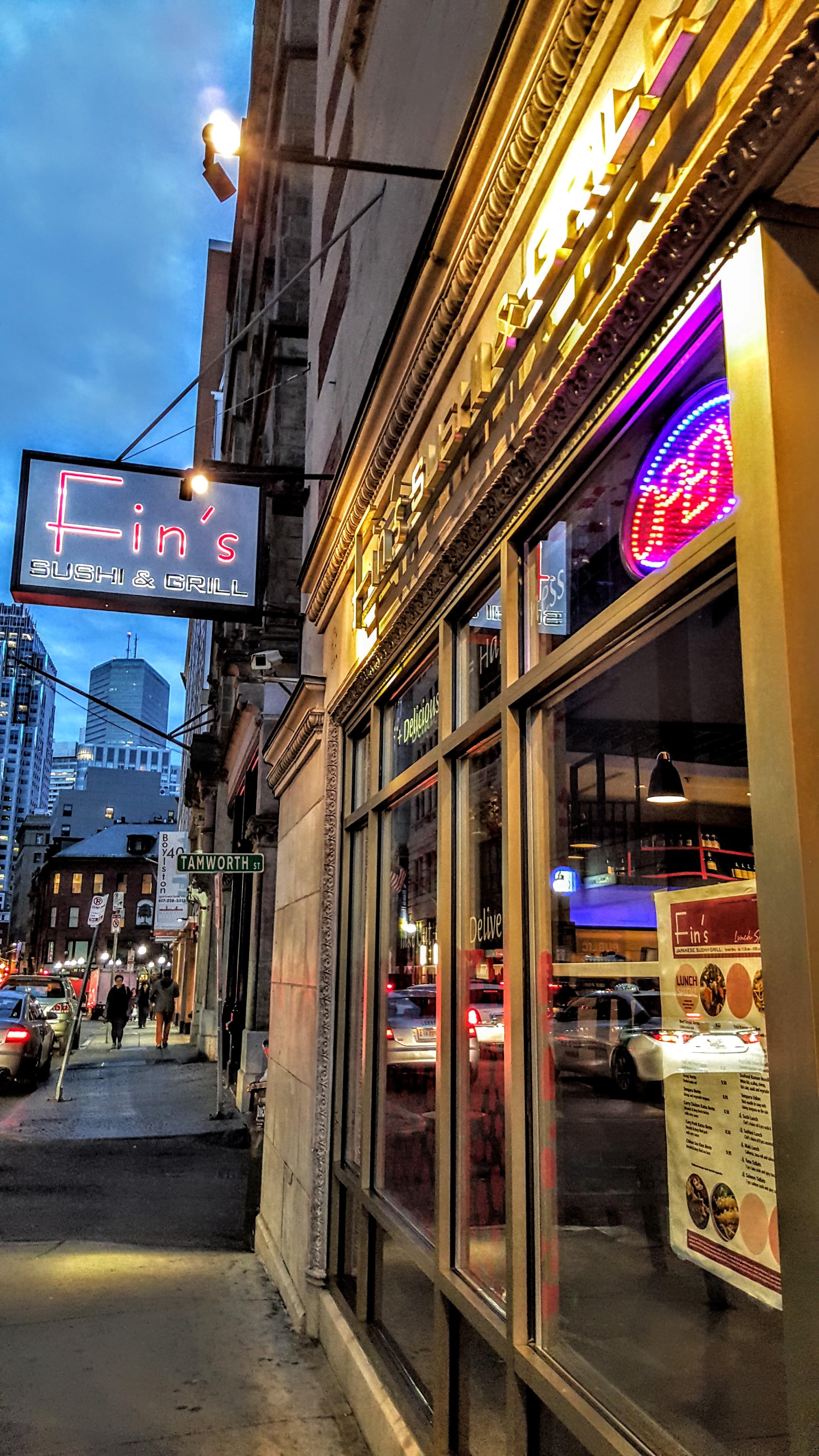 fins sushi boston chinatown