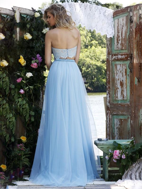 blue dress back