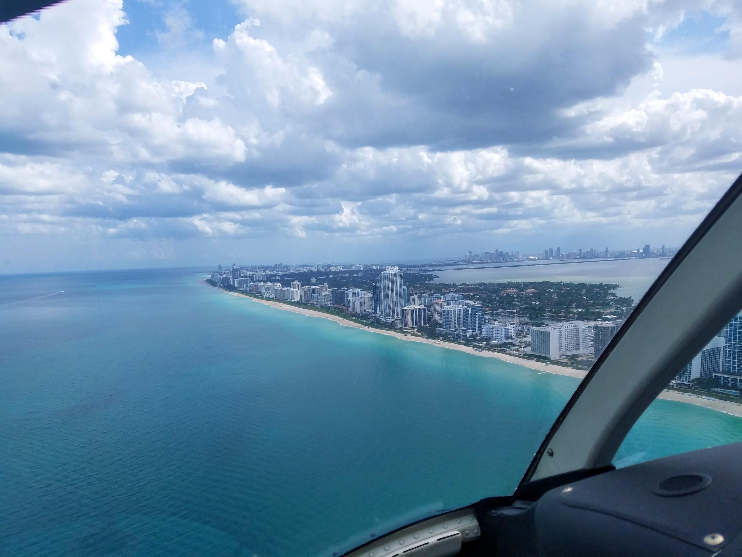 Miami vacation traveler lifestyle helicopter ride tour tourist ocean summer LifeOfArdor