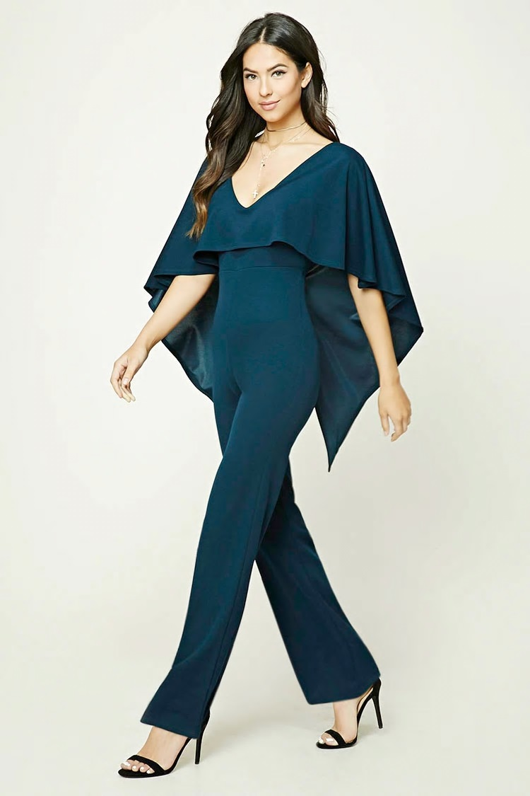 flounce layer jumpsuit forever 21