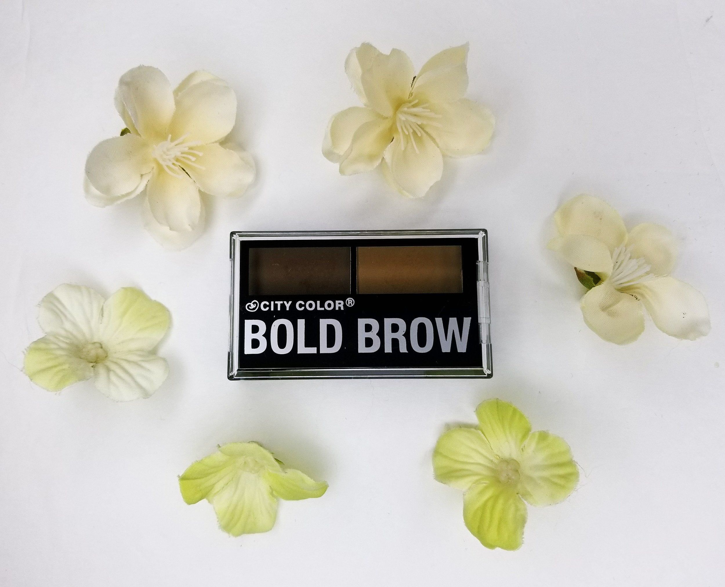A photo of City Color brow powders.