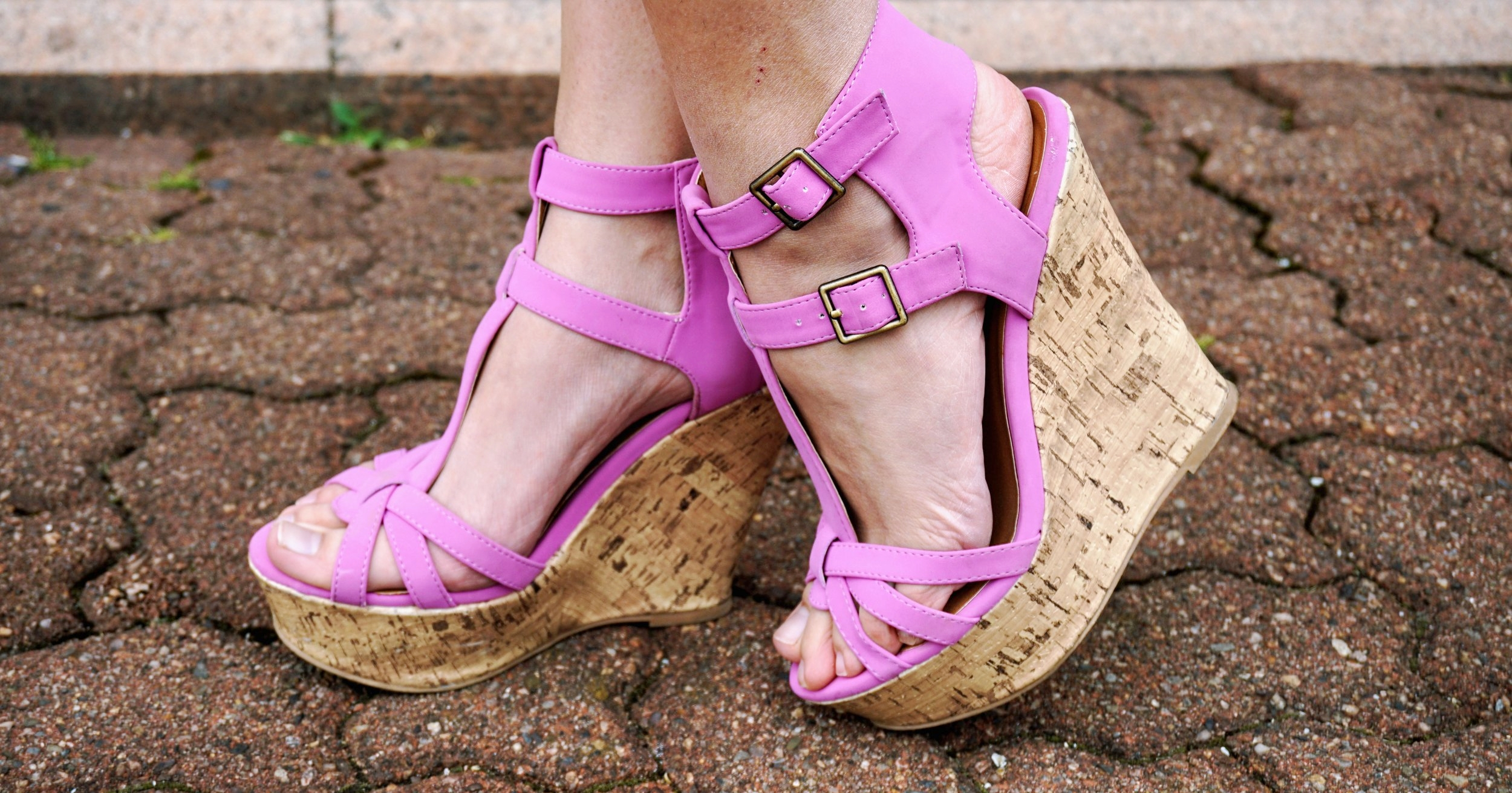 A close up of lavender wedges.
