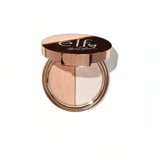 Heart Defensor and e.l.f cosmetics collaboration: highlighter duo.