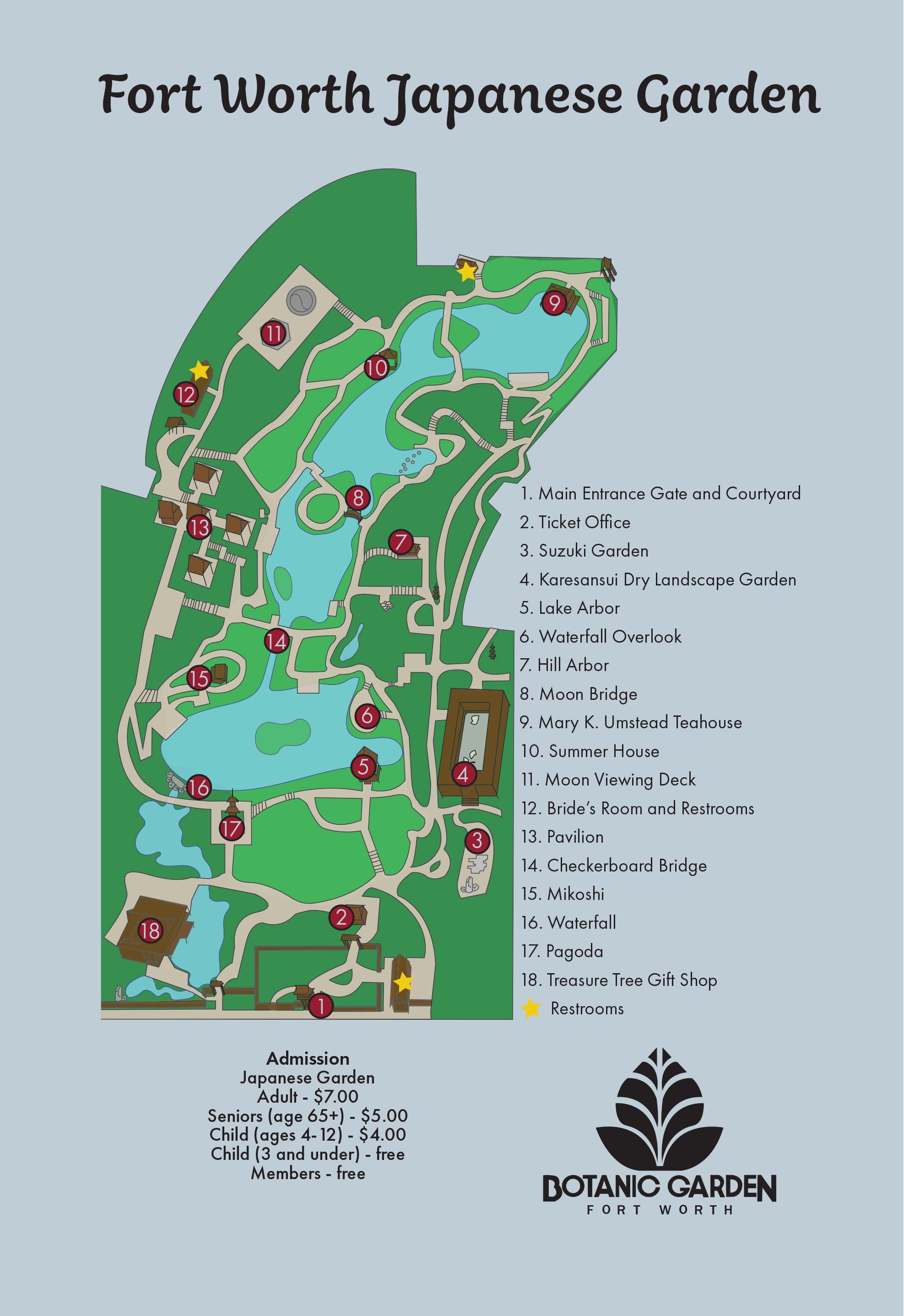 Japanese Garden Map — Fort Worth Botanic Garden