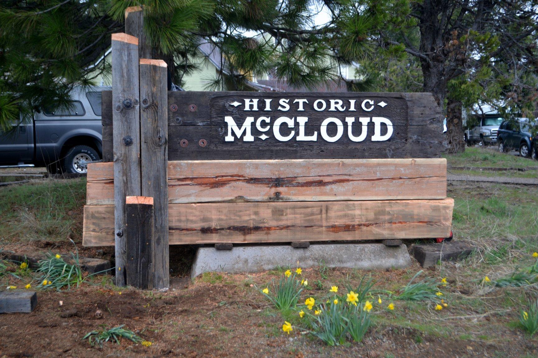 McCloud Monument Sign