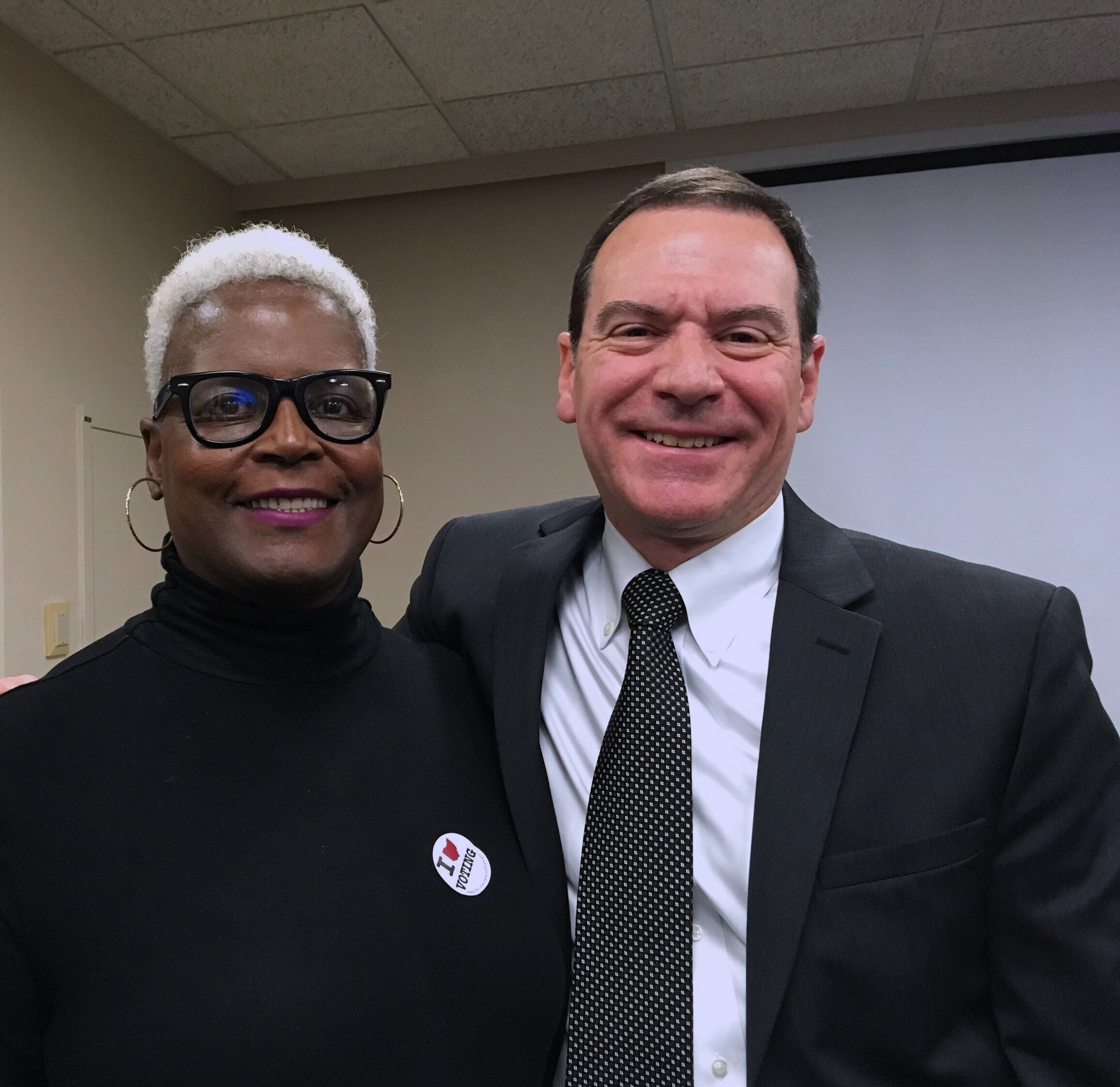 Beverly Wright and Jim Posch are re-elected as members of the Cleveland Heights-University Heights City School District Board of Education. 11/5/19