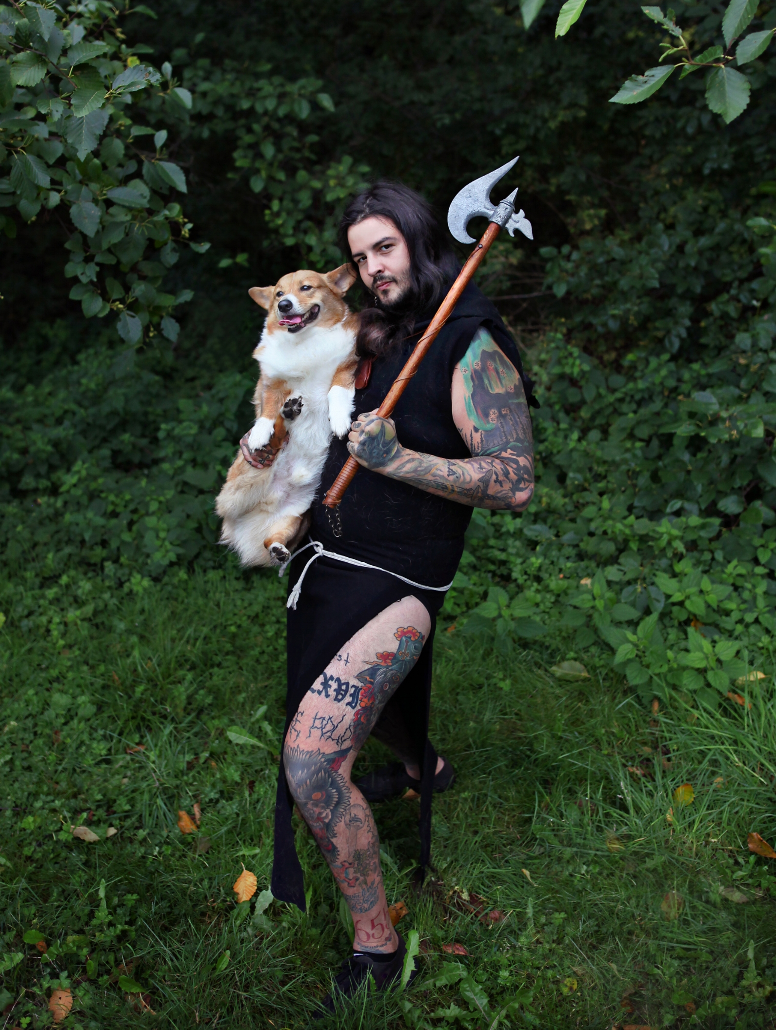 Michael Freiburger, of Throne of Bone, and dog Balrog