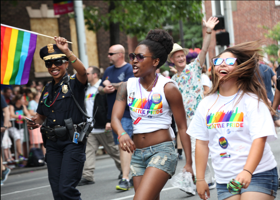 See more images from the >>>   2015 Seattle Gay Pride Parade