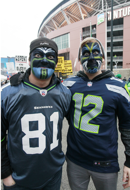 Read about the freaky fashion of >>>   2014 Seattle Seahawk Superfans