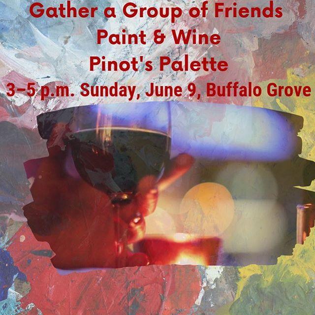 Reserve a pallet, canvas & brush at https://tinyurl.com/y423tfvl ~ and enjoy wine on 4-season deck. #pinotspaletteglenview #wineandpaint #paintandwine #buffalogrove #buffalogroveillinois
