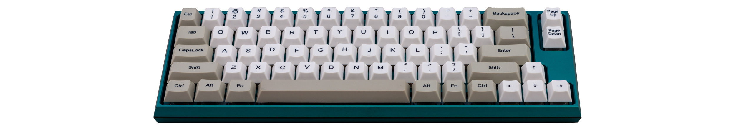 Clueboard 66% Aluminum Keyboard Kit - Teal