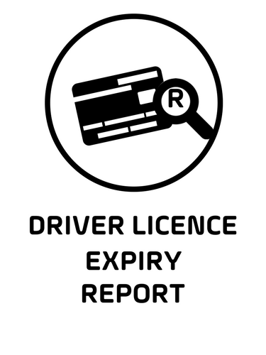 12. Driver licence expiry report black.png
