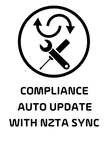 Compliance Management made easy -  Compliance  automatically updates with NZTA.