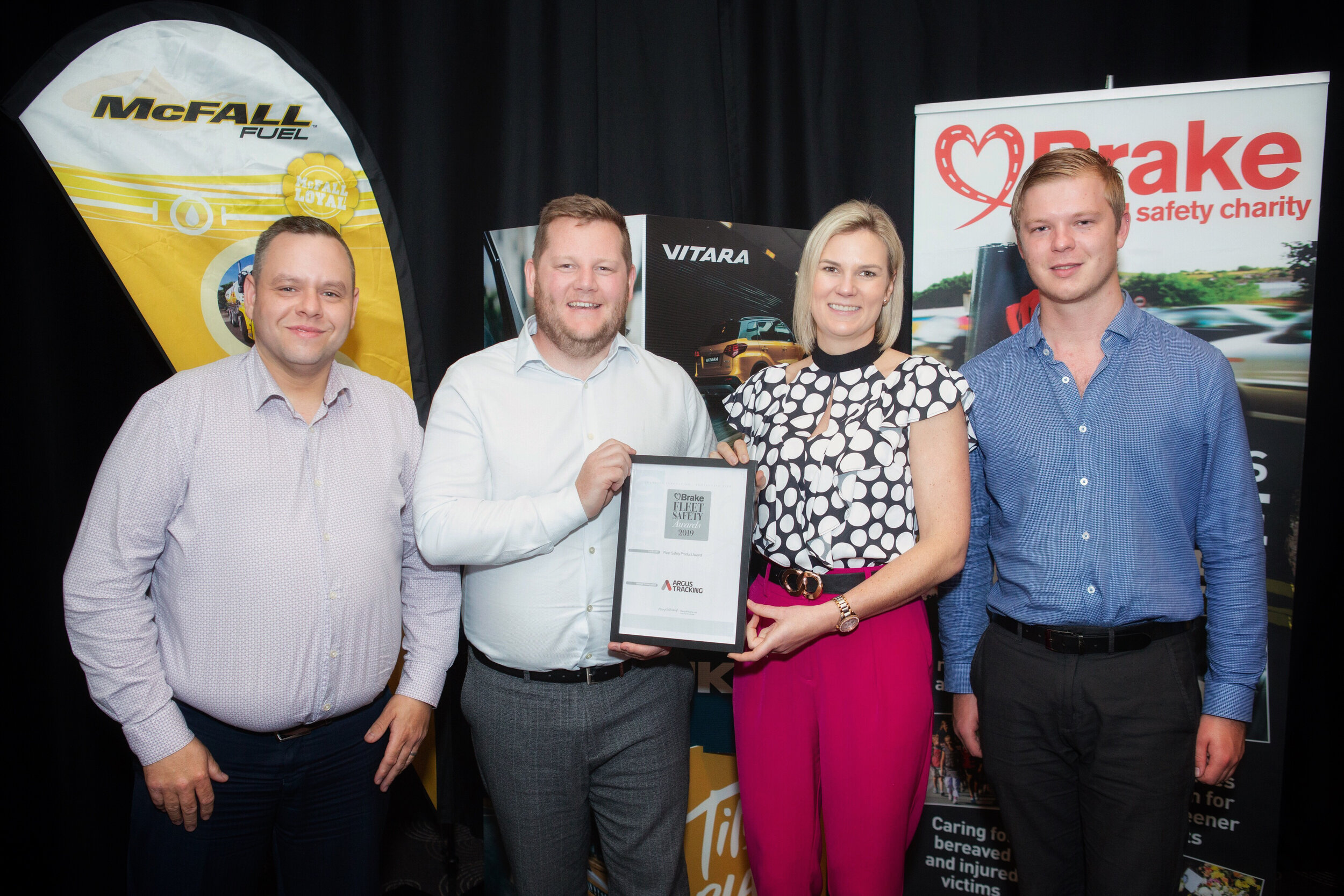 Argus Tracking recieves award at Fleet Safety Awards for Driver Behaviour Telematics