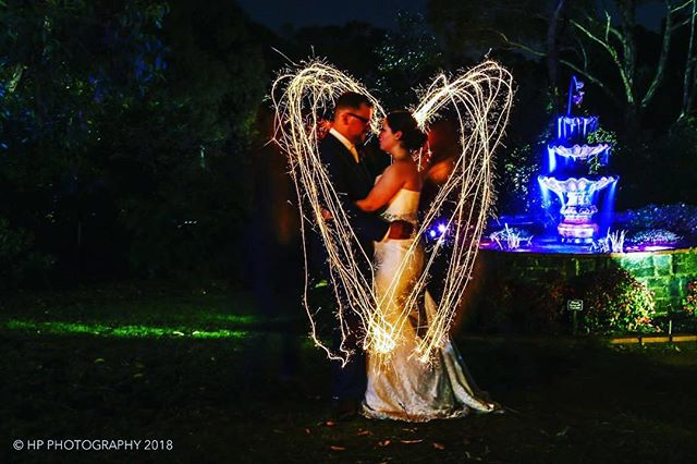 When the sparks ignite a flame that burns eternal. Congratulations once again to Sarah & Patryk! #hpphotographyau #wedding #sparklers #night #countrywedding Thanks again to @avaloncastle for yet another great evening!