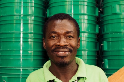 """I had a vision. I was going to finish school, and find work. Come what may, I was going to succeed.'' Herby Sanon, now 28 years old, works for an international NGO specializing in community sanitation and composting toilets. Ted Oswald."
