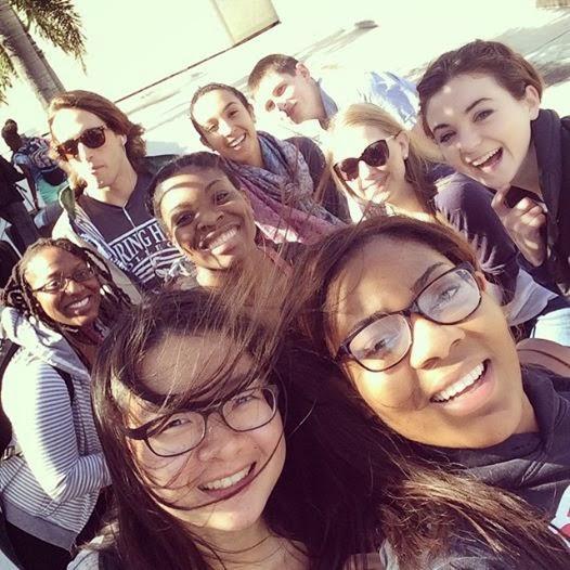 The UMD group on their journey to Haiti. Photo credit: Kristina Mondesir