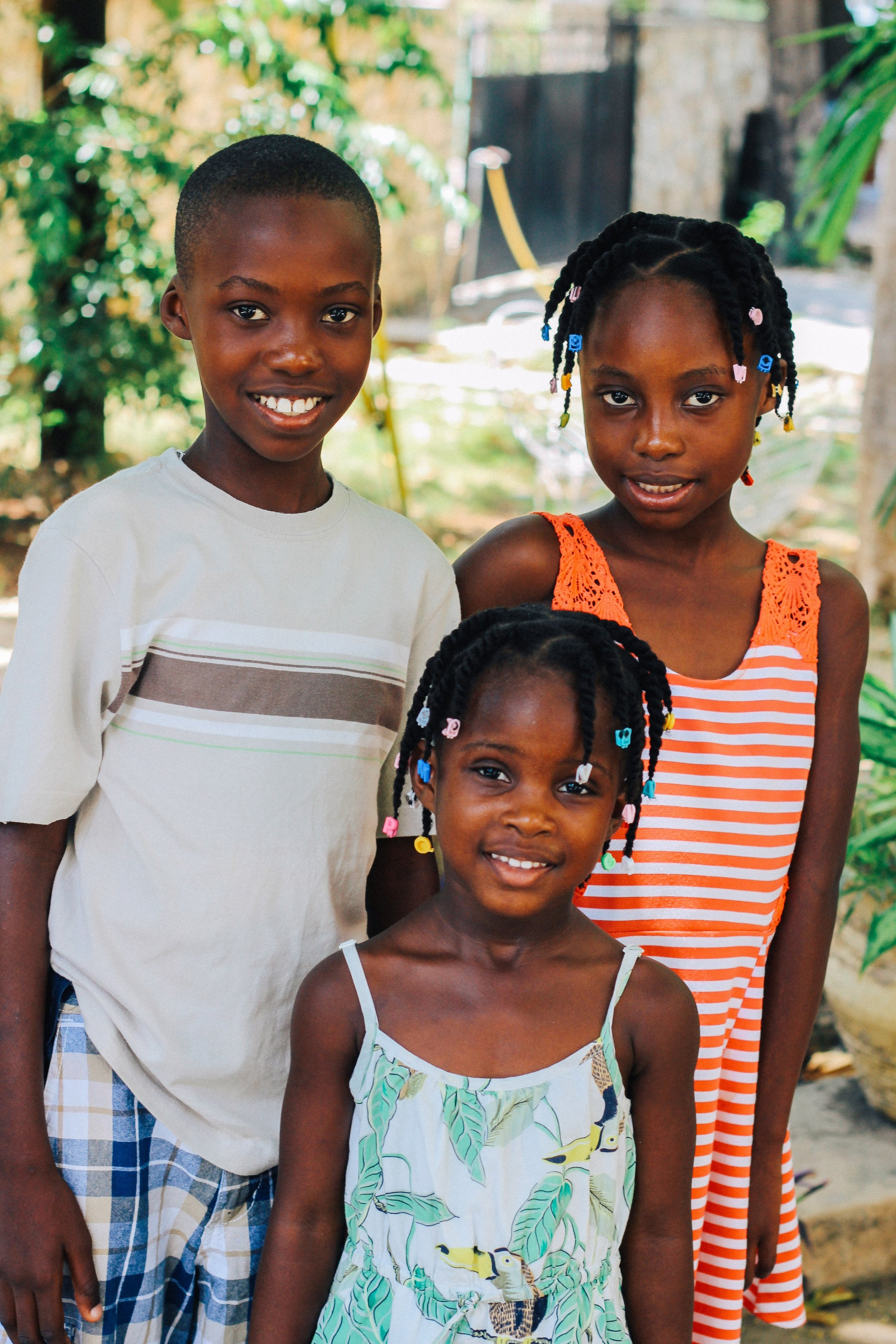 The 3 Saingelus children. MCC Photo/Ted Oswald