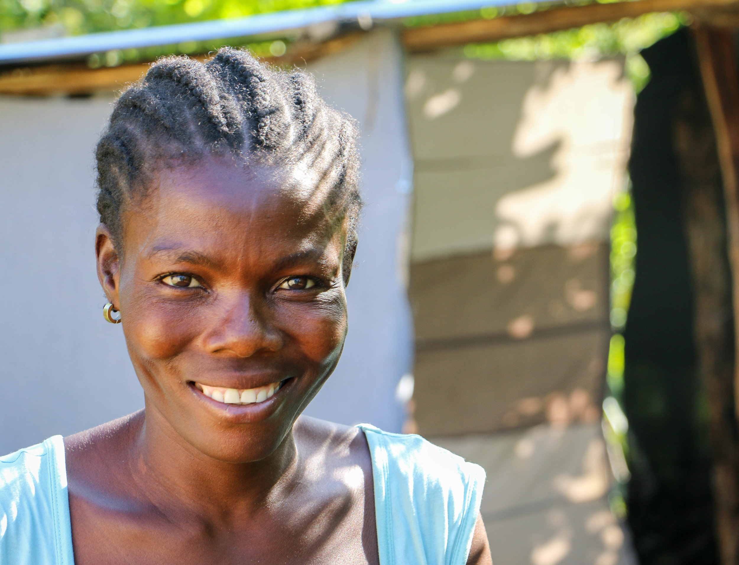 Andrenya Charl, Kabay, Haiti, was a one of 181 families who built latrines for their homes in this MCC supported project. August 2017