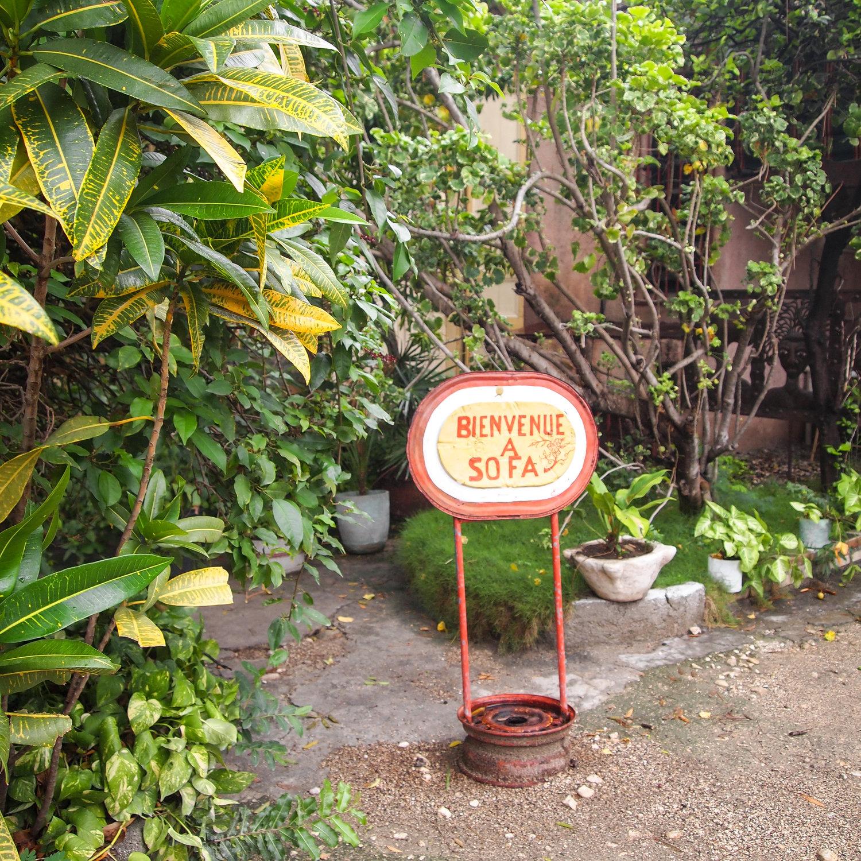 The courtyard at SOFA's Port-au-Prince office. MCC photo/Madeline Kreider Carlson