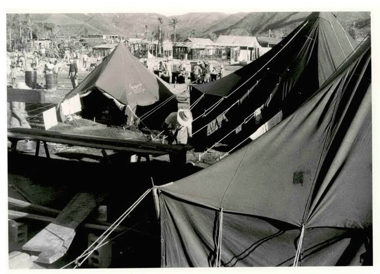 MDS workers lived in tents during the response project to be closer to the work and community