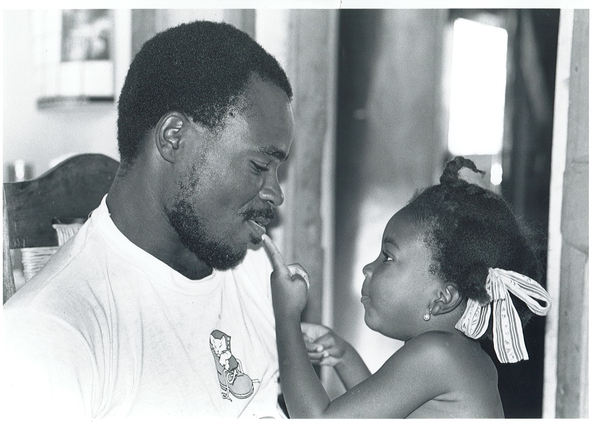 Jean Remy Azor with his daughter Jeanida in 1994.