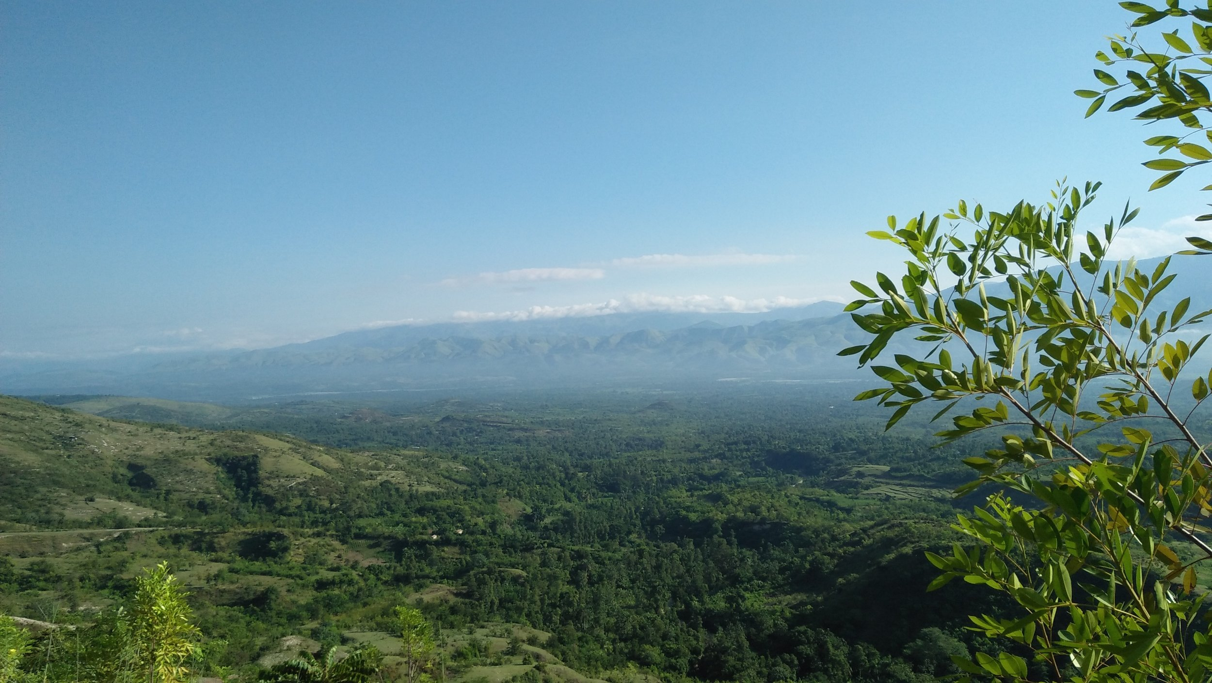 A view into the Artibonite Valley near Desarmes.