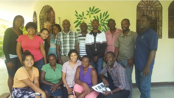 MCC staff members in Desarmes.