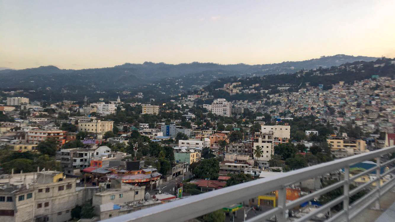 The view of uptown Port-au-Prince from the rooftop.
