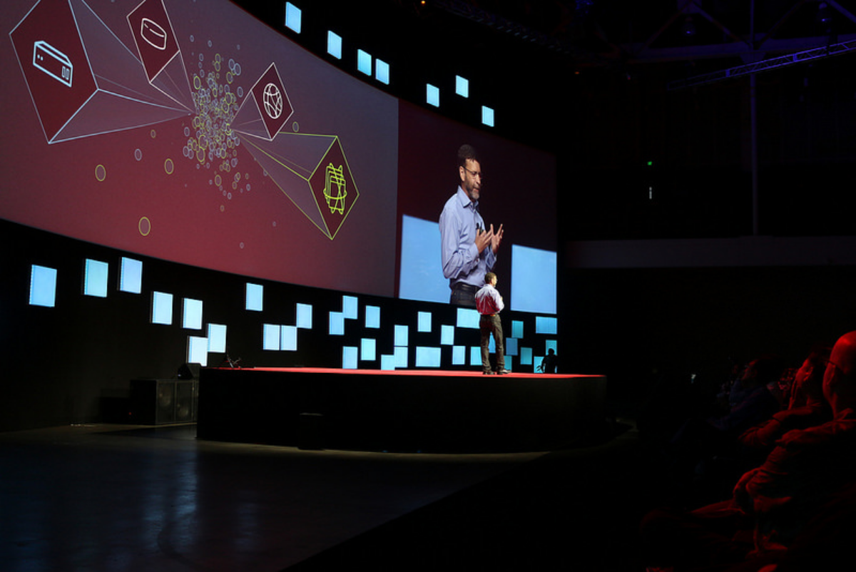 PAUL CORMIER,  PRESIDENT,PRODUCTS &TECHNOLOGIES,RED HAT RED HAT SUMMIT 2015    Photo source: www.flickr.com/photos/redhatinc