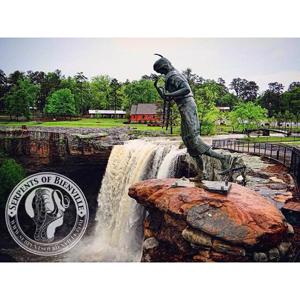 A view of statue at Noccalula Falls in Gadsden, Alabama