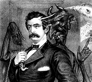 John Wilkes Booth  and Devil illustration from Life Magazine