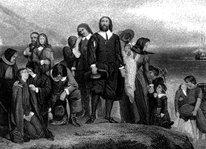 The Puritans Coming Ashore