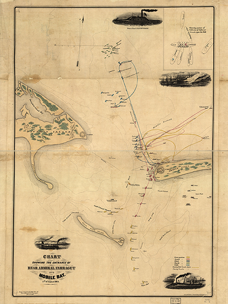 Charting of Farragut's Entrance to Mobile Bay for purchase  here