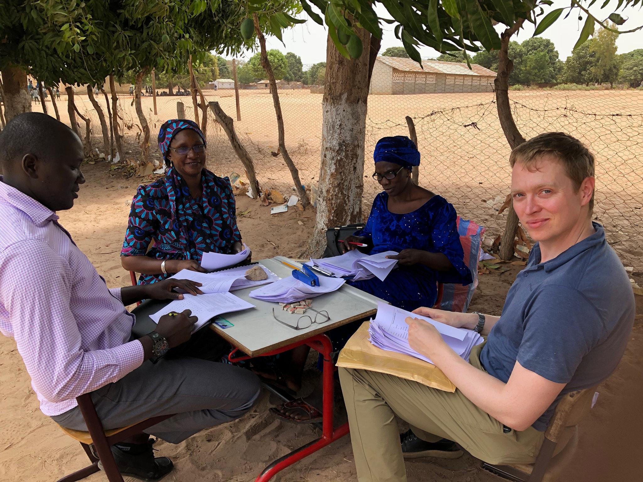 Checking data, Gambia