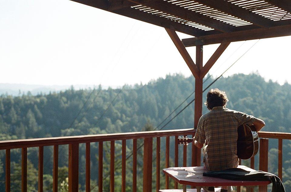 Tyler Larson playing on the best deck at Camp Krem. Photo: Sarah Shashaani.