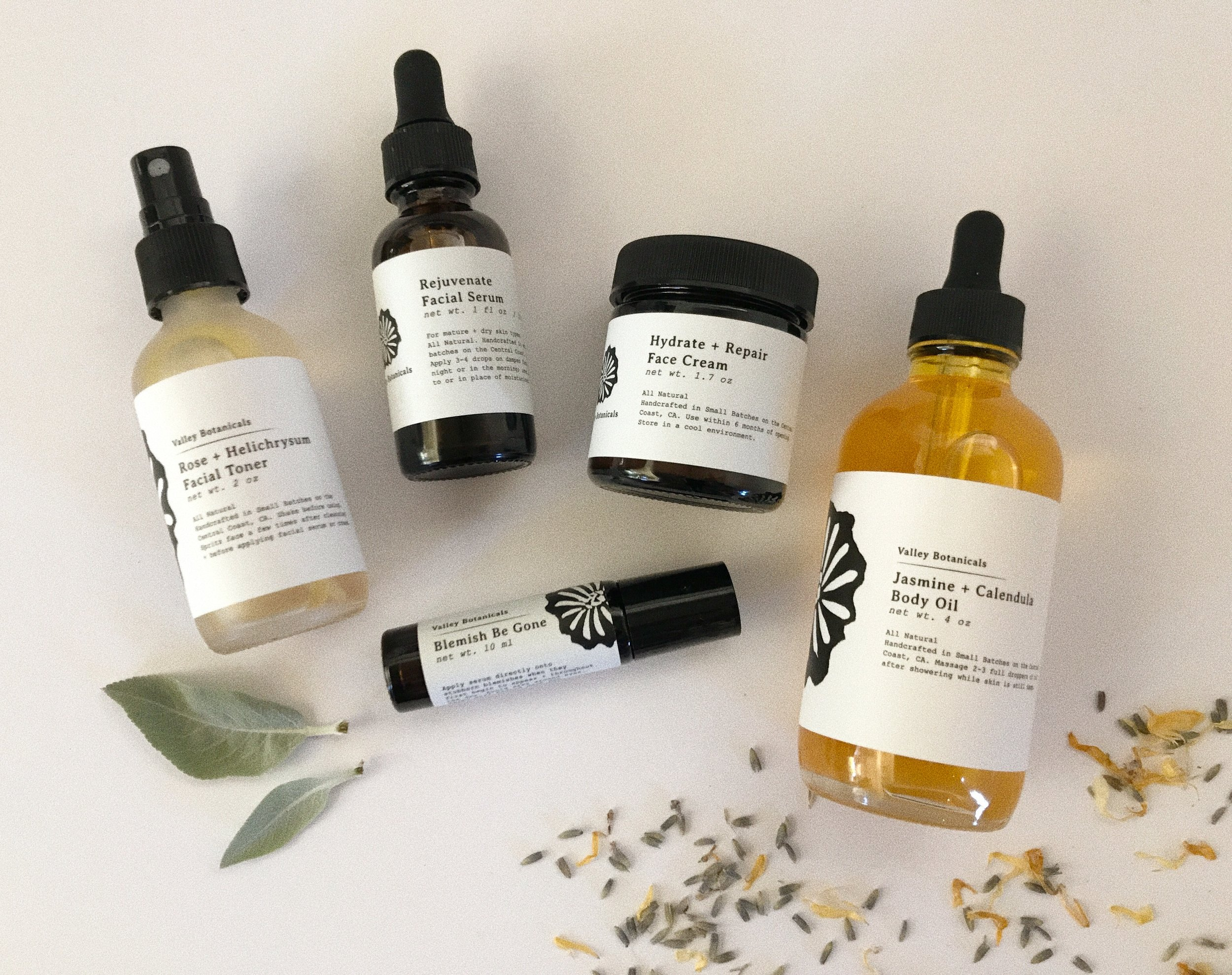 Valley Botanicals Product Line - Available on ETSY