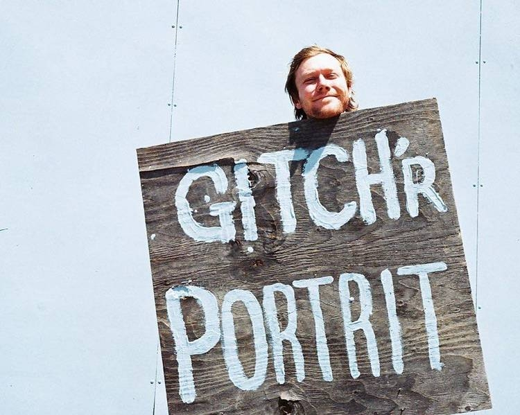 Jaycub Troester gitin his portrait, Photo -Kelly Koval