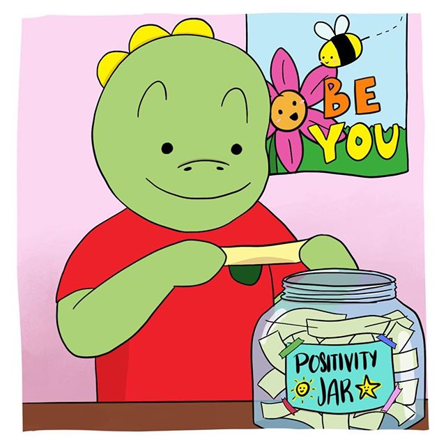 Today is Positive Thinking Day! How can we be more positive in our lives and in our communities? I'm putting some thoughts in my positivity jar for my parents and friends. Today is going to be a great day! YEAH! 💪☀️🌈#tommythedinosaur #positivethinkingday #thinkingpositive . . . #educational #childrensbooks #childrensbook #childrenbooks #read #readingisfun #goodreads #instabooks #bookworm #school #library #kidsbooks #booklovers #socialjustice #socialchange #literacy #mommyblogger #blog #teacher #school #kidlit #kidsbookstagram #kidsreading #picturebooks #momblog #mommylifestyle