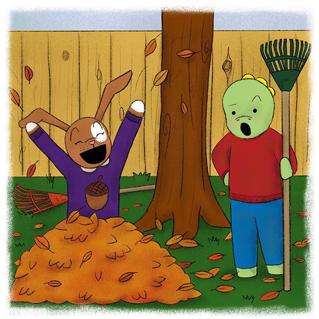 Mom asked me to rake up the leaves in our backyard today. I asked Clover for some help but she has another idea. Is anyone else like Clover and love jumping in leaves? 🍂🍁🌾 #autumn #fallleaves #chores #tommythedinosaur #halloweenfun • • • #educational #childrensbooks #childrensbook #childrenbooks #read #readingisfun #goodreads #instabooks #bookworm #school #library #kidsbooks #booklovers #socialjustice #socialchange #literacy #mommyblogger #blog #teacher #school #kidlit #kidsbookstagram #kidsreading #picturebooks #momblog #mommylifestyle